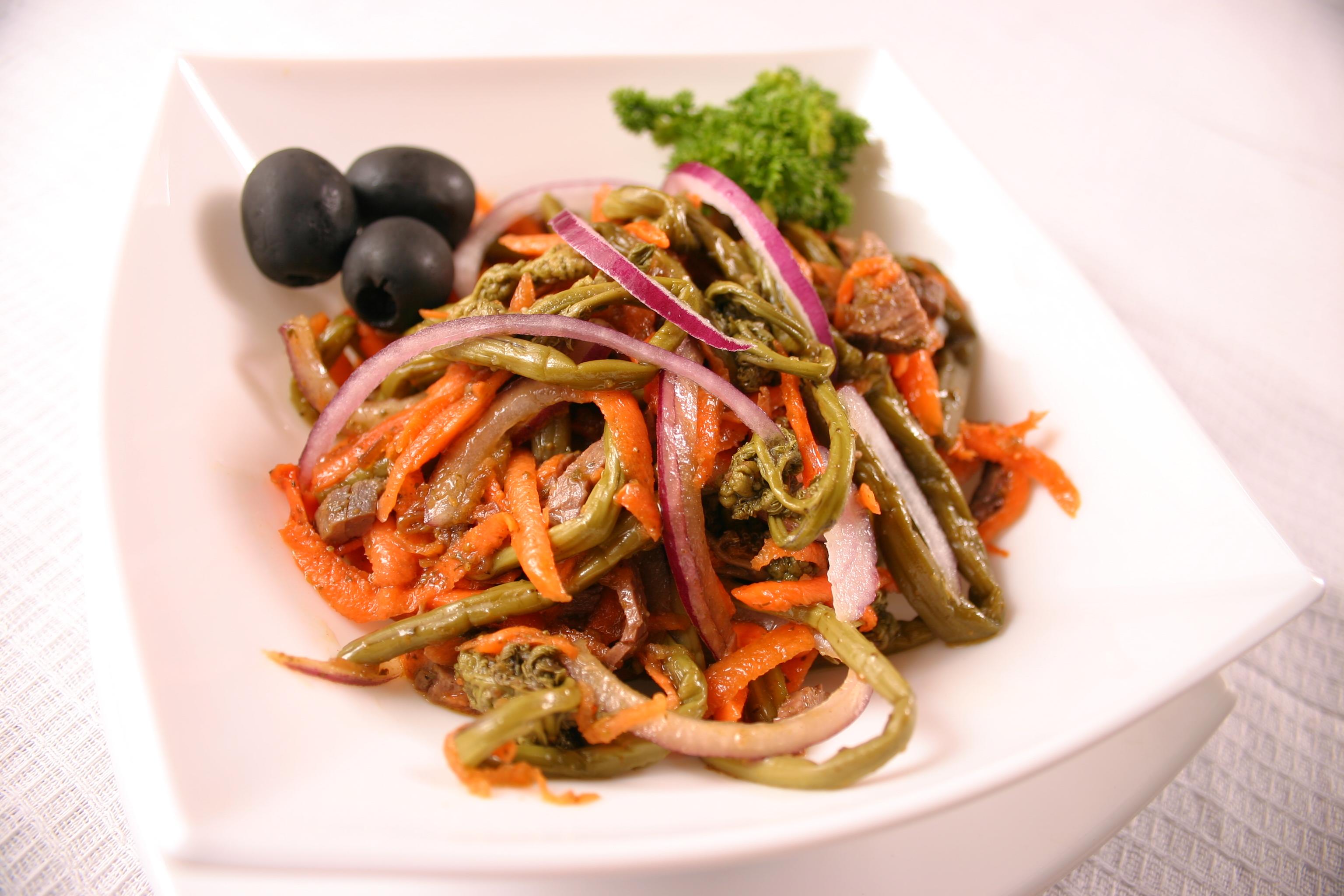 Салат папараць кветка рецепт пошагово